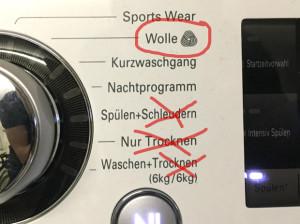 Kletterseil in der Waschmaschine
