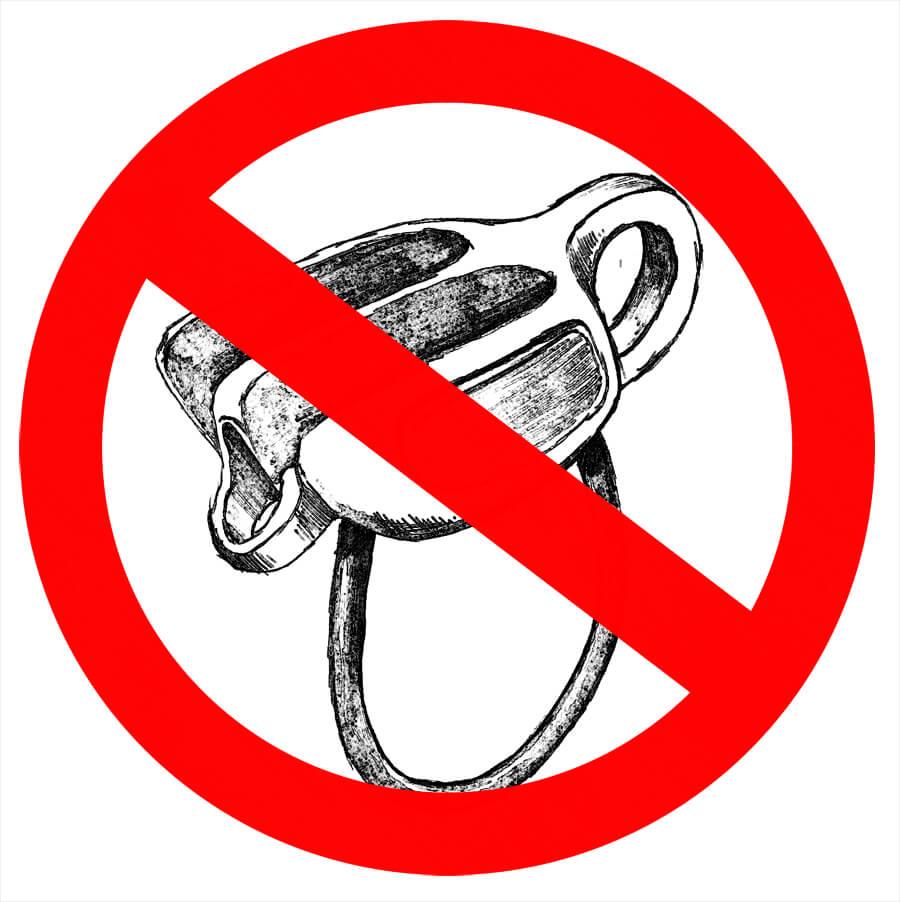 Tube Verbot Schild